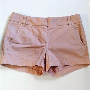 J. Crew Blush Pink Chino Shorts Size 2